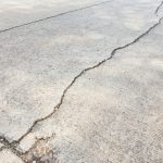 cracked foundation or concrete